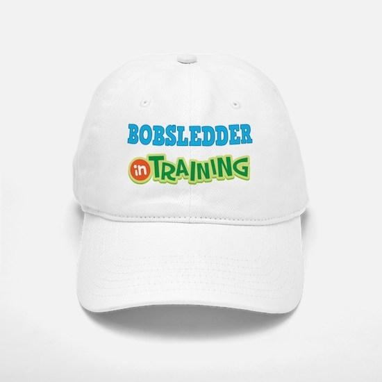 Bobsledder In Training Baseball Baseball Cap
