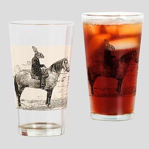 rabbits Ride Drinking Glass