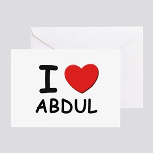 I love Abdul Greeting Cards (Pk of 10)