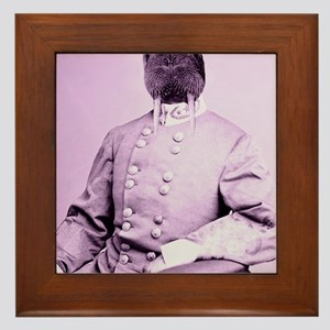 Walrus soldier Framed Tile