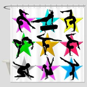 SUPER STAR GYMNAST Shower Curtain