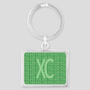 XC Run Run Green Landscape Keychain