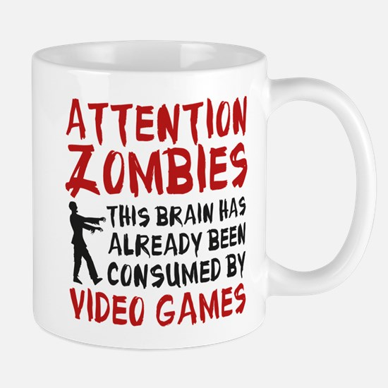 Attention Zombies Video Games Mug
