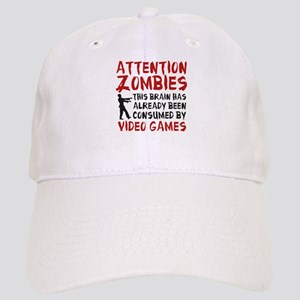 Attention Zombies Video Games Cap