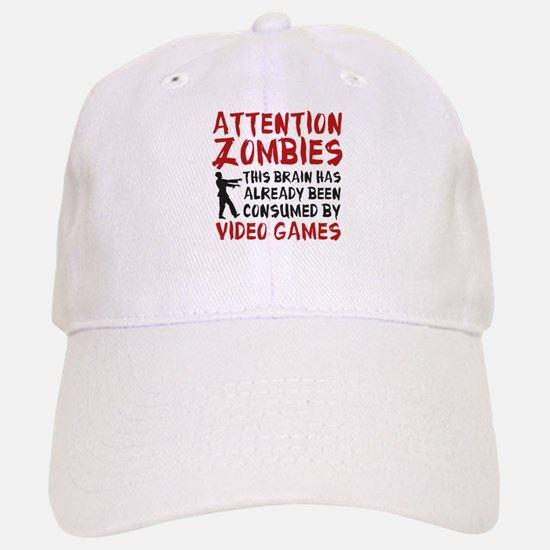 Attention Zombies Video Games Baseball Baseball Cap