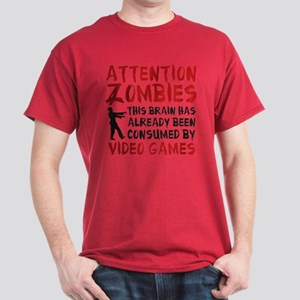 Attention Zombies Video Games Dark T-Shirt