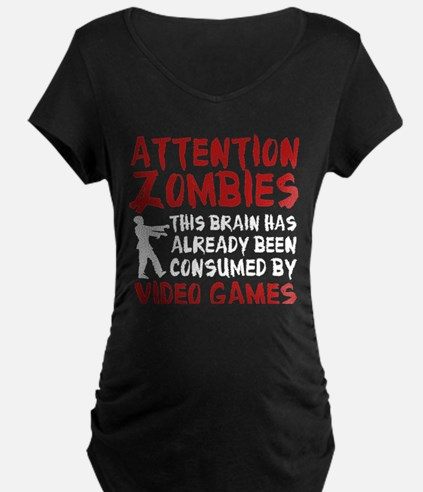 Attention Zombies Video Games T-Shirt