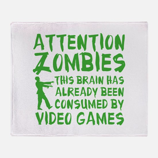 Attention Zombies Video Games Stadium Blanket