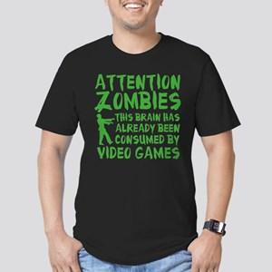 Attention Zombies Video Games Men's Fitted T-Shirt