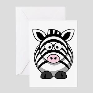 Cartoon Zebra Greeting Card