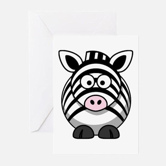 Cartoon Zebra Greeting Cards (Pk of 10)