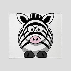 Cartoon Zebra Throw Blanket
