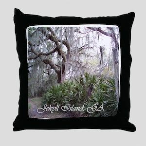 Jekyll Island, Georgia Throw Pillow