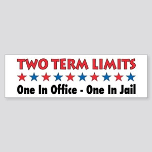Two Terms Limits Bumper Sticker