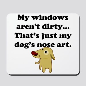 Dog Nose Art Mousepad