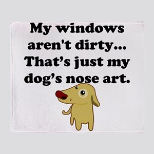 Dog Nose Art Throw Blanket