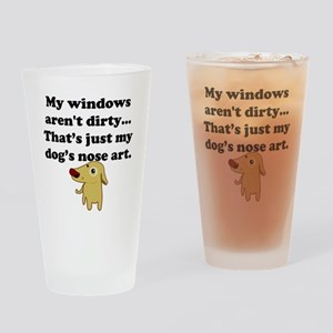 Dog Nose Art Drinking Glass