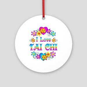 I Love Tai Chi Ornament (Round)