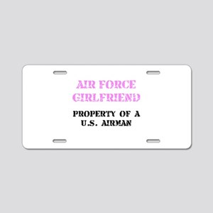 Air Force Girlfriend Aluminum License Plate