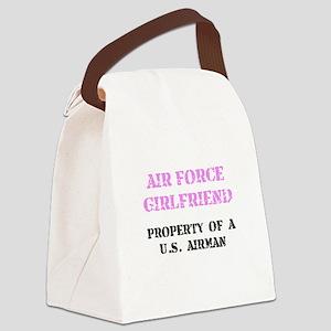 Air Force Girlfriend Canvas Lunch Bag