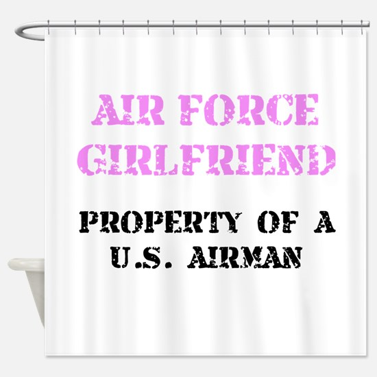 Air Force Girlfriend Shower Curtain