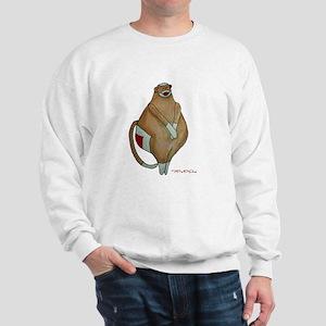 Front/Back Fat Sock Monkey Sweatshirt