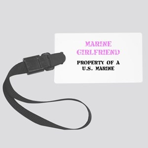 Marine Girlfriend Luggage Tag