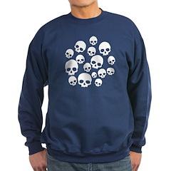 Light Blue Random Skull Pattern Sweatshirt (dark)