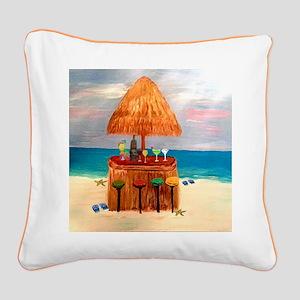 Tiki Bar Square Canvas Pillow