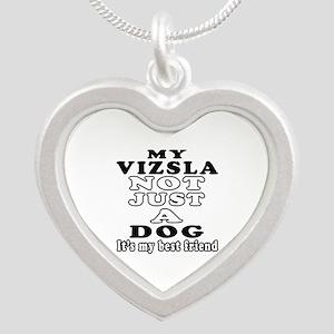 Vizsla not just a dog Silver Heart Necklace