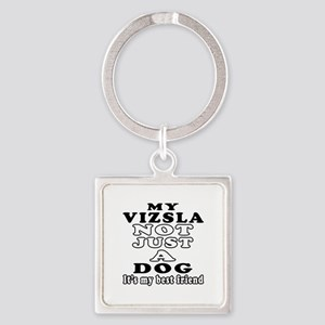 Vizsla not just a dog Square Keychain