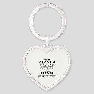 Vizsla not just a dog Heart Keychain