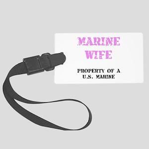 Marine Wife Luggage Tag