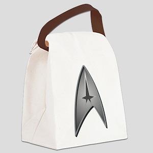 STAR TREK Logo silver Canvas Lunch Bag