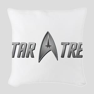 STAR TREK silver 2 Woven Throw Pillow