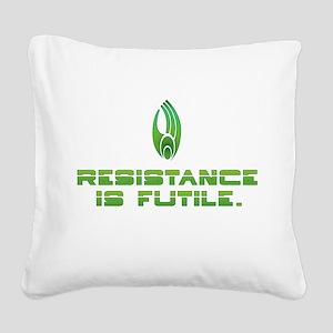 Star Trek Borg - Resistance Square Canvas Pillow