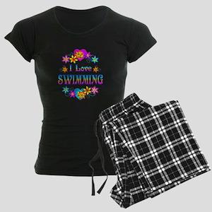 I Love Swimming Women's Dark Pajamas