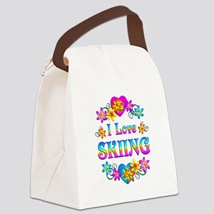 I Love Skiing Canvas Lunch Bag
