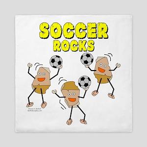 Soccer Rocks Queen Duvet