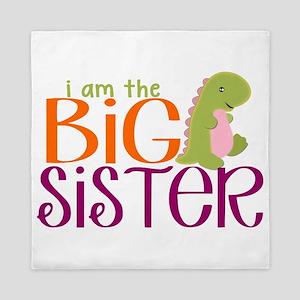 I am the Big Sister Dinosaur Queen Duvet