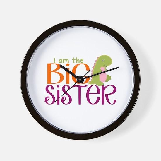 I am the Big Sister Dinosaur Wall Clock