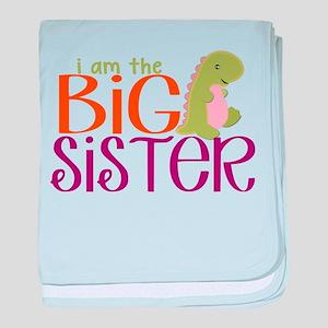 I am the Big Sister Dinosaur baby blanket