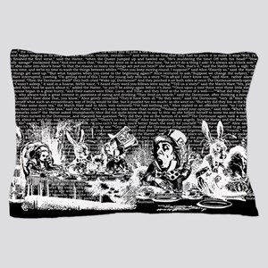 Vintage Alice Border Black Pillow Case