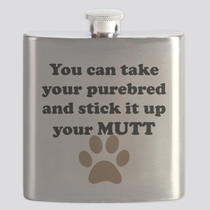 Stick It Up Your Mutt Flask