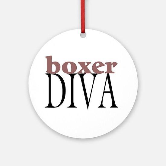Boxer Diva Ornament (Round)