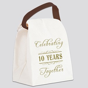Celebrating 10 Years Together Canvas Lunch Bag