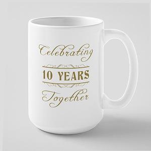 Celebrating 10 Years Together Large Mug