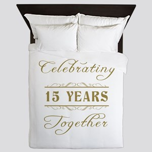 Celebrating 15 Years Together Queen Duvet
