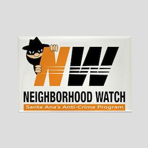 Santa Ana Neighborhood Watch Rectangle Magnet (10