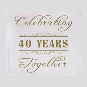 Celebrating 40 Years Together Throw Blanket
